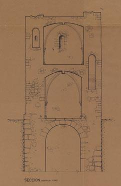 Sección de la Torre del Espolón de Lorca, 1970