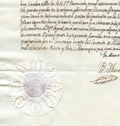 Carta del General de los Carmelitas (1826)