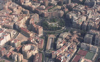 Foto a�rea Plaza Circular, Murcia