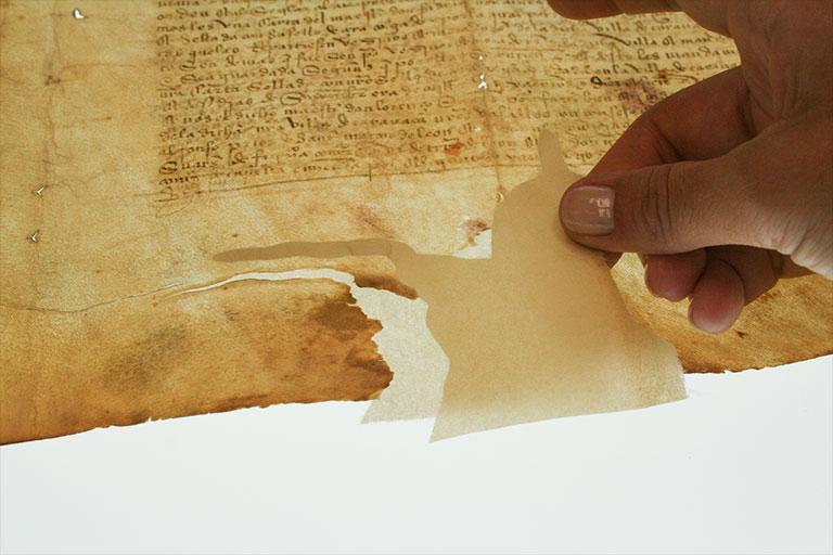 Reconstrucción de documento