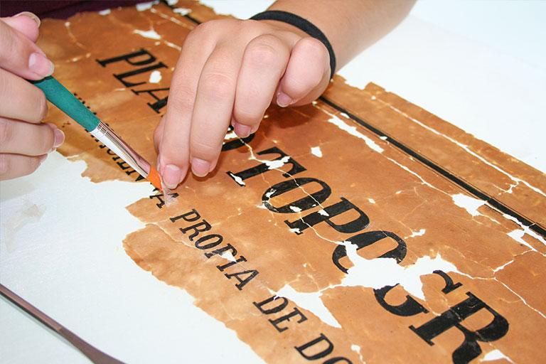 Imagen restauración manual