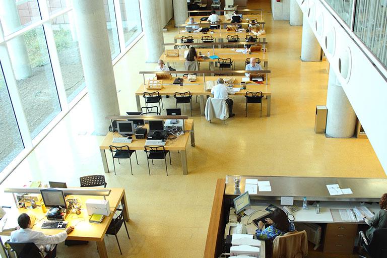 Interior de la Sala de Investigación